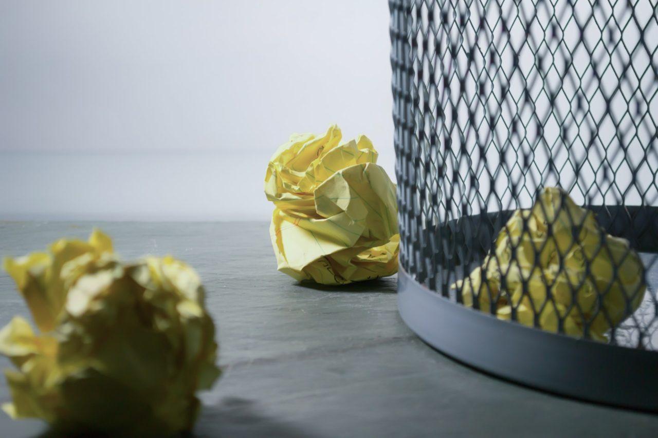 頭の中のゴミ箱に怒りを捨てる